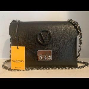 Valentino Isabelle Black Leather Crossbody Bag